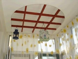 田园风格二居室10-15万100平米客厅窗帘新房设计图纸