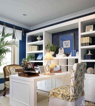 地中海风格复式豪华型140平米以上书房书桌图片