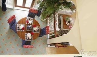 地中海风格复式豪华型140平米以上餐厅餐桌效果图