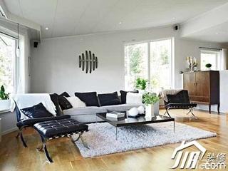 简约风格复式简洁豪华型130平米客厅沙发效果图