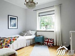 简约风格复式豪华型130平米卧室床效果图