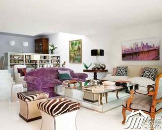 欧式风格别墅20万以上客厅沙发效果图