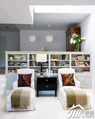 欧式风格别墅20万以上书架效果图