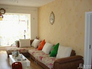 田园风格二居室10-15万100平米客厅沙发新房设计图