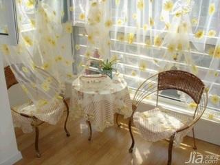 田园风格二居室10-15万100平米客厅窗帘新房家居图片