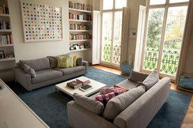 小公寓中的大豪宅 伦敦现代多彩公寓