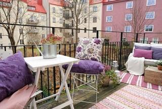 糖果色系的居室空间 70平米彩色装修赏