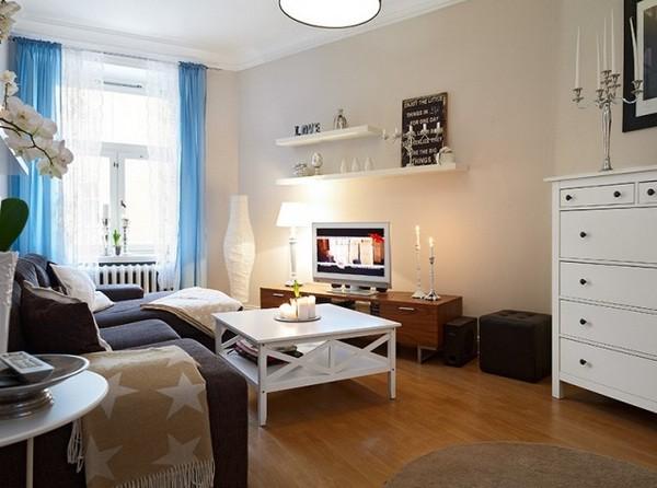 白色家居木质地板铺装 60平清新雅致家居