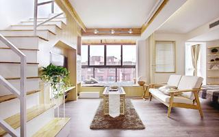 70平米原木风小户型 精致楼顶花园设计
