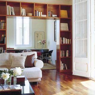 客厅书房为一体 20款创意书架客厅设计