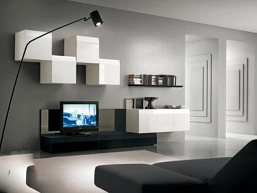 属于客厅简单又好看的电视墙图片