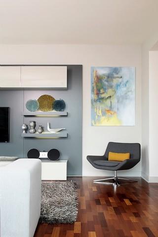 90平米现代简约风格设计 婚房首选