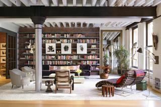 现代简约书房客厅 书房宁静客厅明亮