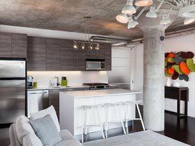 多伦多工业风格简约公寓