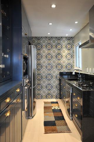 亮丽的厨房墙纸  给厨房增添更多色彩