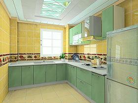 19款经典L型厨房  不一样的简约田园风