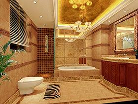23种灯火辉煌的卫生间 洗浴也有好心情