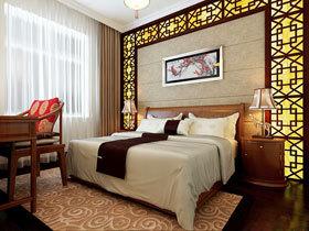中式卧室背景墙效果图 21图演绎古朴中国风