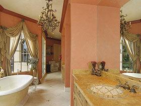 清新&时尚范儿 17种彩色卫浴间设计图
