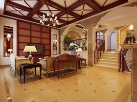 美式也温馨 15款美式地中海楼梯