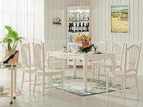 18款白色餐桌效果图 简单素雅