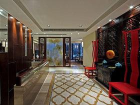 中式古典风 20款中式走廊效果图