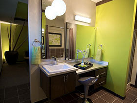 时尚清新范儿 25张彩色洗手台设计效果图
