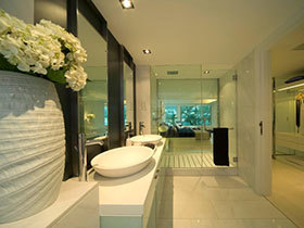 25张圆形洗手台效果图 圆润舒适