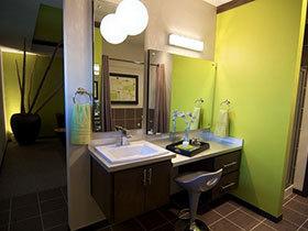 清新卫生间效果图 17款彩色洗手台设计