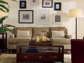 15张美式照片墙效果图 装点你的沙发背景