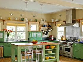 打造小清新厨房 17张彩色橱柜设计图