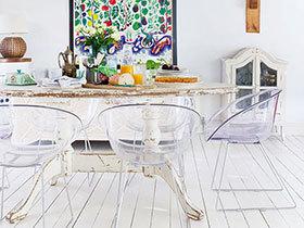 26款简欧餐厅图 地板造舒适用餐区