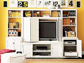 书架安客厅 17图增强客厅实用性