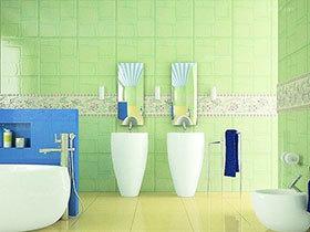 16款瓷砖效果图 拼接的彩色墙面
