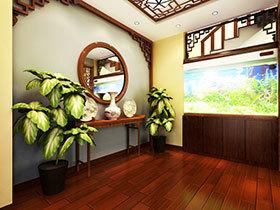 12张中式家居过道效果图 简洁大气