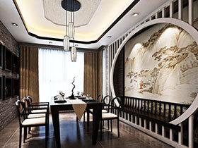 古色古香中式风 16张餐厅背景墙设计图