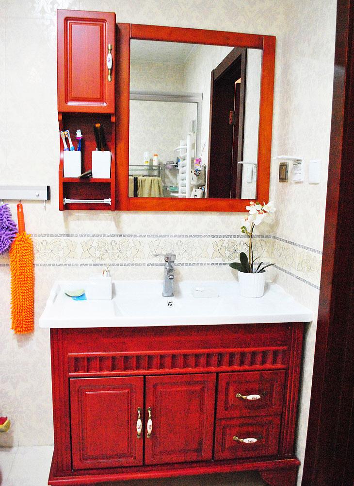 美式浴室柜设计图