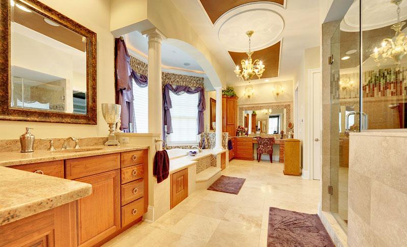 原木色浴室柜效果图
