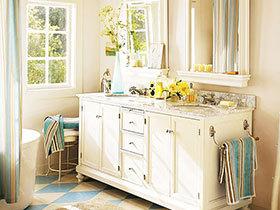 14张白色浴室柜效果图 干净清爽