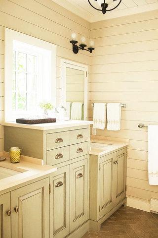 田园风格浴室柜设计图
