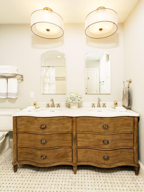 黄色浴室柜效果图
