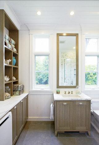 棕色浴室柜效果图