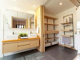 自然原木风 16张原木色浴室柜效果图