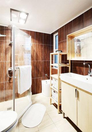 原木色浴室柜设计图