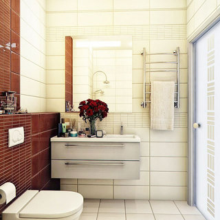 灰色浴室柜设计图