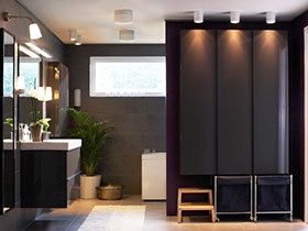 14张宜家黑色浴室柜设计图 稳重大气