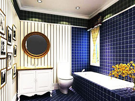 打造精致卫浴间 13张地中海浴室柜图片