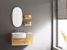 经典原木色设计 12张地中海浴室柜效果图