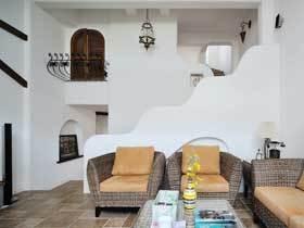 混搭风格25万三居室装修 精致联排别墅效果图
