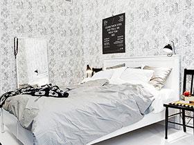 卧室灰白色壁纸图片 墙面传统装修